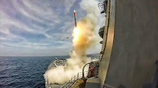 Navy Ship Test Fires Tomahawk Cruise Missile • Split Views
