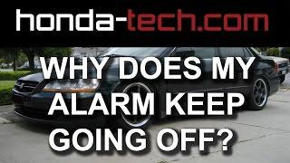 Why Does the Alarm Keep Going Off in my Honda Accord?