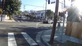 LAPD Runs red light and chirps