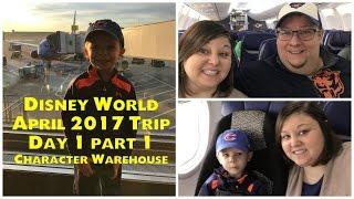 Traveling Day & Disney Character Warehouse I Disney World April 2017 Trip Day 1 Part 1