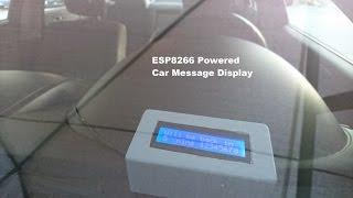 ESP8266 Powered Car Message 16x2 LCD Display - Baba Awesam