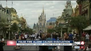 False fire alarm leads to evacuation at Disney World resort