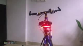 Rechargeable Bicycle Wireless Remote Control Rear Light with Turn Signal and Laser Light