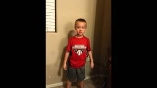 Little man singing alligator alarm.